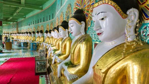 Buddhas at Oohmin ToneSel Pagoda, Sagaing