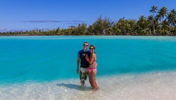 Us at Blue Lagoon - Fakarava