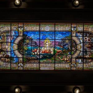 Stained glass at Bolsa Oficial de Café