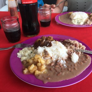 Typical Brazilian lunch