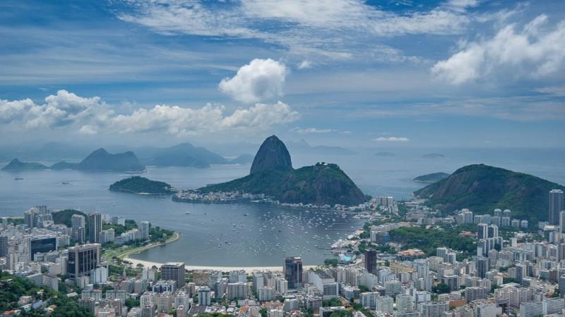 View of Rio's sugarloaf mountain, Pão de Açúcar