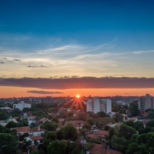 Sunset over Asuncion