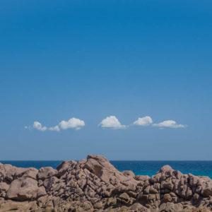 Rocks and clouds at Stokes Bay